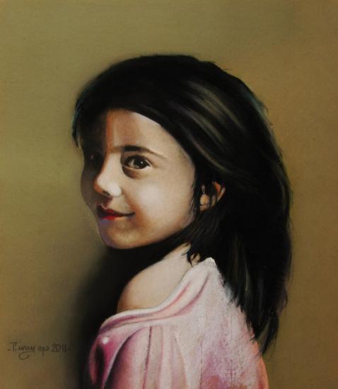 la fillette        tableau à vendre                350€