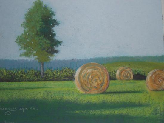 paysage de Chatel Moron           200€
