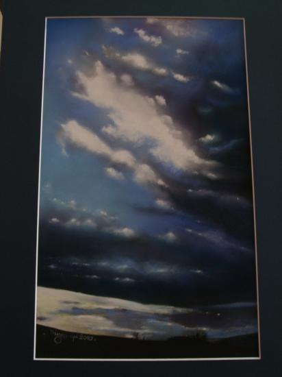 ciel d'orage 2010 ( tableau à vendre).        400€