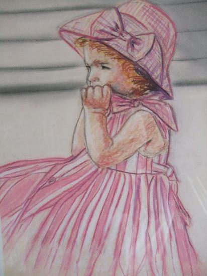 la robe rose ( tableau à vendre).