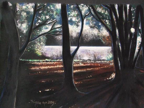 le sous-bois 2009 ( tableau à vendre).  400€