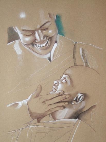 mere et enfant en préparation