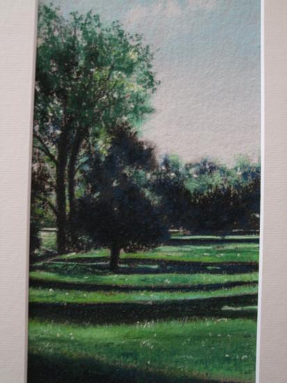 paysage de mellecey 2009 ( tableau à vendre).         150€