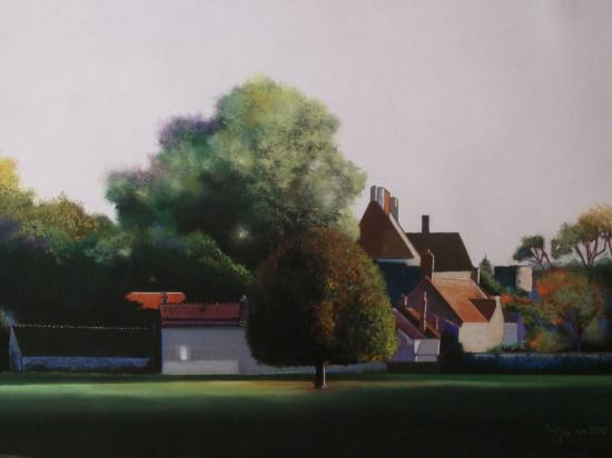 Le chateau de Germolles ( tableau à vendre).           600€