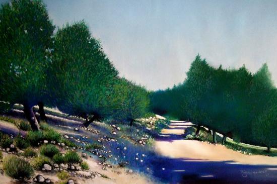 paysage de provence ( tableau à vendre).       600€