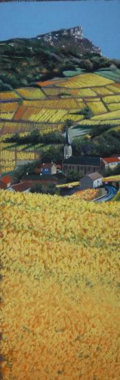Pouilly Solutré ( tableau à vendre).             400€