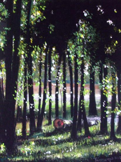 sous-bois 2011 002 ( tableau à vendre).         350€